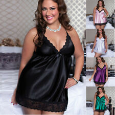 Plus Size Sexy Lace Sleepwear Lingerie Temptation Babydoll Underwear Nightdress