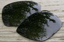 Black Polarized Replacement Sunglass Lenses for Oakley Big Taco - Dark Grey Tint