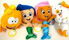 """Bubble Guppies Gil, Molly, Mr Grouper and Bubble Puppy 4 Plush Doll Set 12"""""""