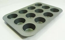 12 Cupcake Muffin Non-Stick Carbon Steel Baking Tray