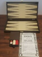 Vintage Backgammon Game In Wooden Carry Case 32cm x 34cm