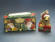 Old World Christmas 2017 Holiday Walrus Glass Ornament Unused w Box & Tags