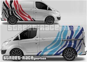 Ford Transit Custom Rally 006 Tiger Zebra stripes graphics stickers decals vinyl