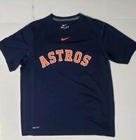 Nike Dri-Fit Houston Astros MLB Baseball Blue T-Shirt Mens Small L