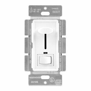 Slide Dimmer Light Switch Incandescent Halogen 120V 700W 60Hz White