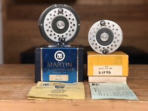 Martin MG-9 Fly Reel & Spare Spool Original Boxes & Papers