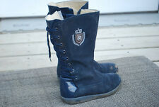 NATURINO GIRLS BOOTS Pre-owned Sz 30  sz 13  tall blue seude