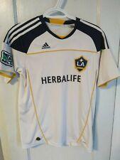 Adidas LA Galaxy Jersey White Size Youth Large Climalite Herbalife Used