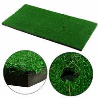 12x24in Golf Practice Grass Mat Backyard Training Hitting Golf Mat Pad With Tee
