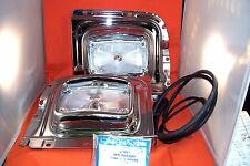 1956 Chevy Chrome Parklight Panels Danchuck Park Light Complete New Made In USA