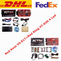 EU Red Kess V2 V5.017 And KTAG V7.020 4 LED ECU Programmer Online 10 Gifts DHL