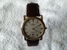 mans edox gold plated quartz watch  (EXCELLENT) 11082