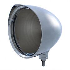 """Chrome Aluminum 7"""" Billet Style """"CHOPPER"""" Headlight Housing with Razor Visor"""