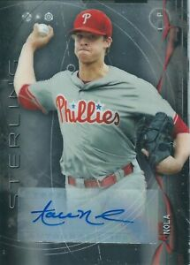 2014 Bowman Sterling Rookie Aaron Nola RCAutograph Philadelphia Phillies MLB