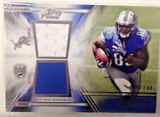2014 Topps Prime Football Dual Jersey Rookie Card #D/140 Eric Ebron Lions