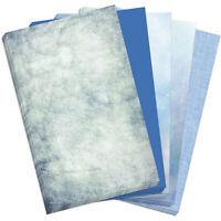 50 Blatt Briefpapier 5 x 10 A4 Briefbögen Motivpapier Bastelpapier Mix Blau