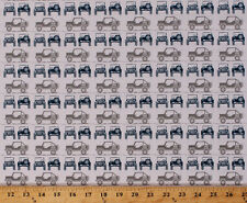 Jeeps Car Vehicles Transportation Camping Gray Cotton Fabric Print BTY D514.04