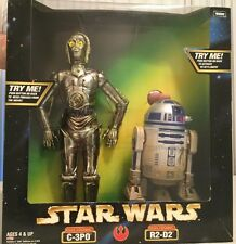*STAR WARS ELECTRONIC C-3PO AND R2-D2 12' FIGURE ( MINT IN BOX )