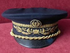 WWI / WWII - FRENCH OFFICER VISOR HAT - RRR