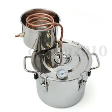 New 2Gal 8L Alcohol Distiller Moonshine Ethanol Copper Still Stainless Boiler