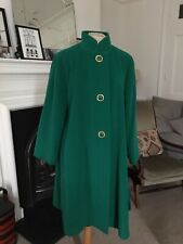 Vintage Valentino Emerald Green Wool 80s Coat