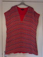 NEW - NEXT Red/White/Blue Printed Tunic Top -  Black Red/White Speckled Size 22