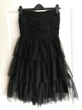 Vero moda Black tiered tulle party dress never worn size 40/12ish prom