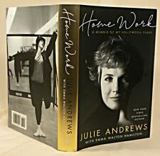 HOME WORK: A Memoir of My Hollywood Years, Julie Andrews, DOUBLE SIGNED, 2019