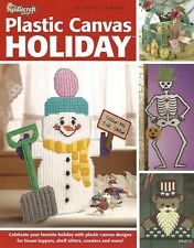 Plastic Canvas Holiday Patterns Tissue Toppers Coasters Halloween Christmas +