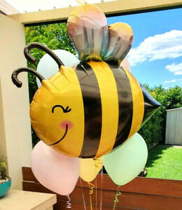 """Bee Bumblebee Foil Balloon LARGE 38"""" Mummy To Bee Baby Shower Party Decorations"""