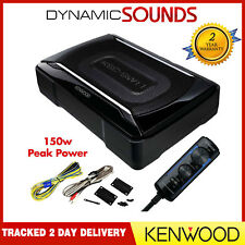 Kenwood KSC-SW11 Compact Active Amplified Under Seat Powered Subwoofer 150W