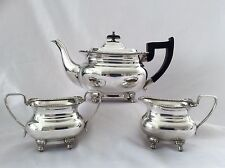 SUPERB QUALITY VINTAGE VINERS OF SHEFFIELD 3 PIECE SILVER PLATED TEASET C.1930