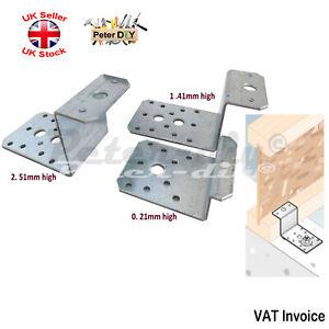 """Galvanised """"Z Shape"""" Brace Bracket Joist Timber Mending Plates Thickness:2.5mm"""