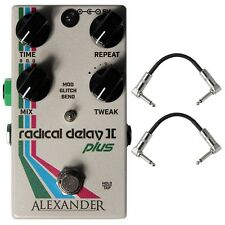 Alexander Pedals Radical Delay II+ 2 Plus Guitar Effects Pedal with Patch Cables