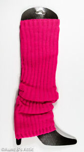 80's Leg Warmers Ladies Acrylic Knit Assorted Neon Color Fun Costume Accessory