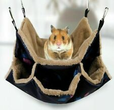 Hamster Small Pet Hammock Hedgehog Mouse Ferret Rabbit Fluffy Puffy Bed House