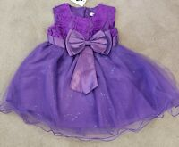NWT Purple Baby Girls Sz 6 - 12 months Flower Girl Dress Tulle Party Easter  NEW