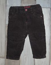 ~ Pantalon en velours côtelé et doublé OBAIBI Taille 6 mois ~