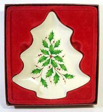 Lenox Holiday Tree Candy Dish Bowl