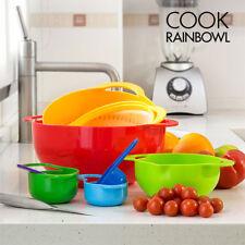Porta alimentos de plástico de color principal multicolor