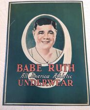 Babe Ruth All America Athletic Underwear Tin Sign 1993