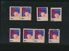 1939 Red Cross Seals Lot of 8 - no gum