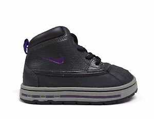 Nike Kids' Toddler WOODSIDE BOOTS Anthracite/Purple 415080-002 a5