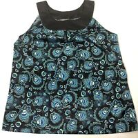 NWT Women's Size Large Apt 9 Black And Turquoise Printed Dress Tank Top