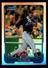 IKE DAVIS NEW YORK METS MINT SILVER REFRACTOR CARD SP 2012 BOWMAN CHROME #102