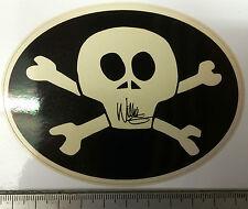 Harley-Davidson Aufkleber Willi G. Skull Oval 111x81mm cremeweis auf schwarz