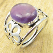 High End Amethyst NOUVEAU Ring Size Q ! Silver Plated Metal Jewelry ONLINE STORE