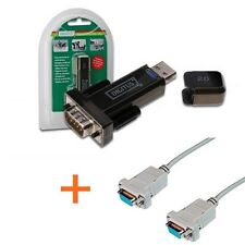 CONVERTER CABLE NULL MODEM 9 PIN CROSSOVER X DECODER E BENTEL + USB SERIAL