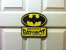 Personalised Dutch Batman door sign plaque Batcave childrens birthday idea