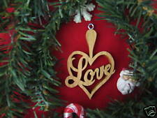 Love Heart Christmas Hardwood Ornament / Sun Chaser